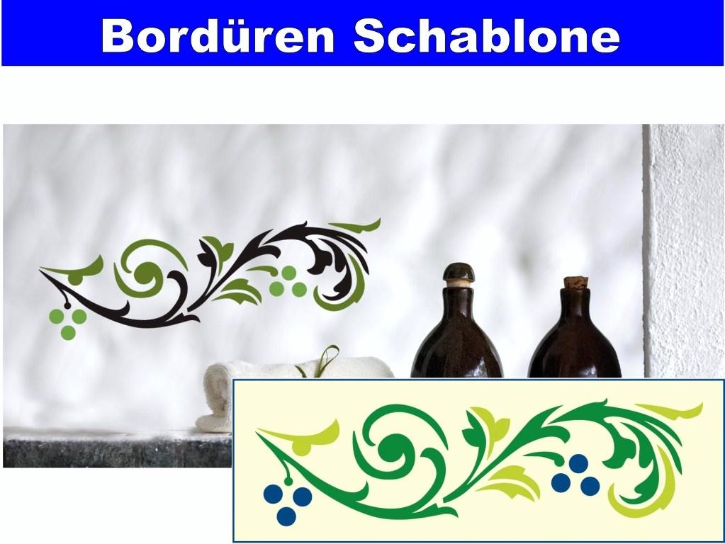 bord ren schablone f r wand wandtattoo wandschablone 12 x. Black Bedroom Furniture Sets. Home Design Ideas