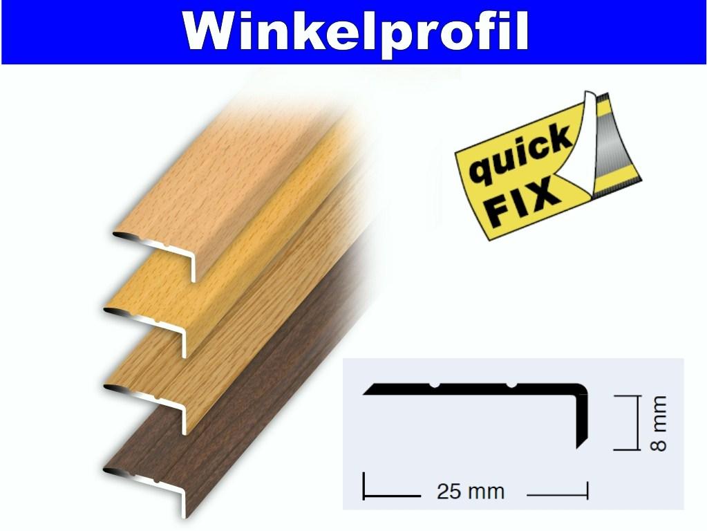 treppenprofil abschlussprofil profil selbstklebend 100x2 5x0 8cm alu holzdekor ebay. Black Bedroom Furniture Sets. Home Design Ideas