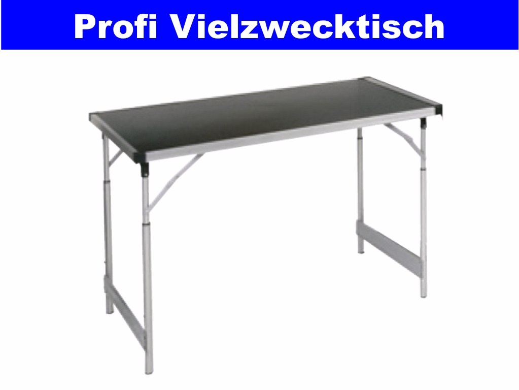 profi gartentisch alu klapptisch camping buffet tisch h henverstellbar 60x100cm. Black Bedroom Furniture Sets. Home Design Ideas