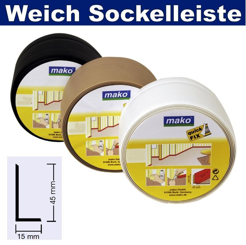 weich sockel leiste selbstklebend knick profil kunststoff sockelleiste 45 x 15mm ebay