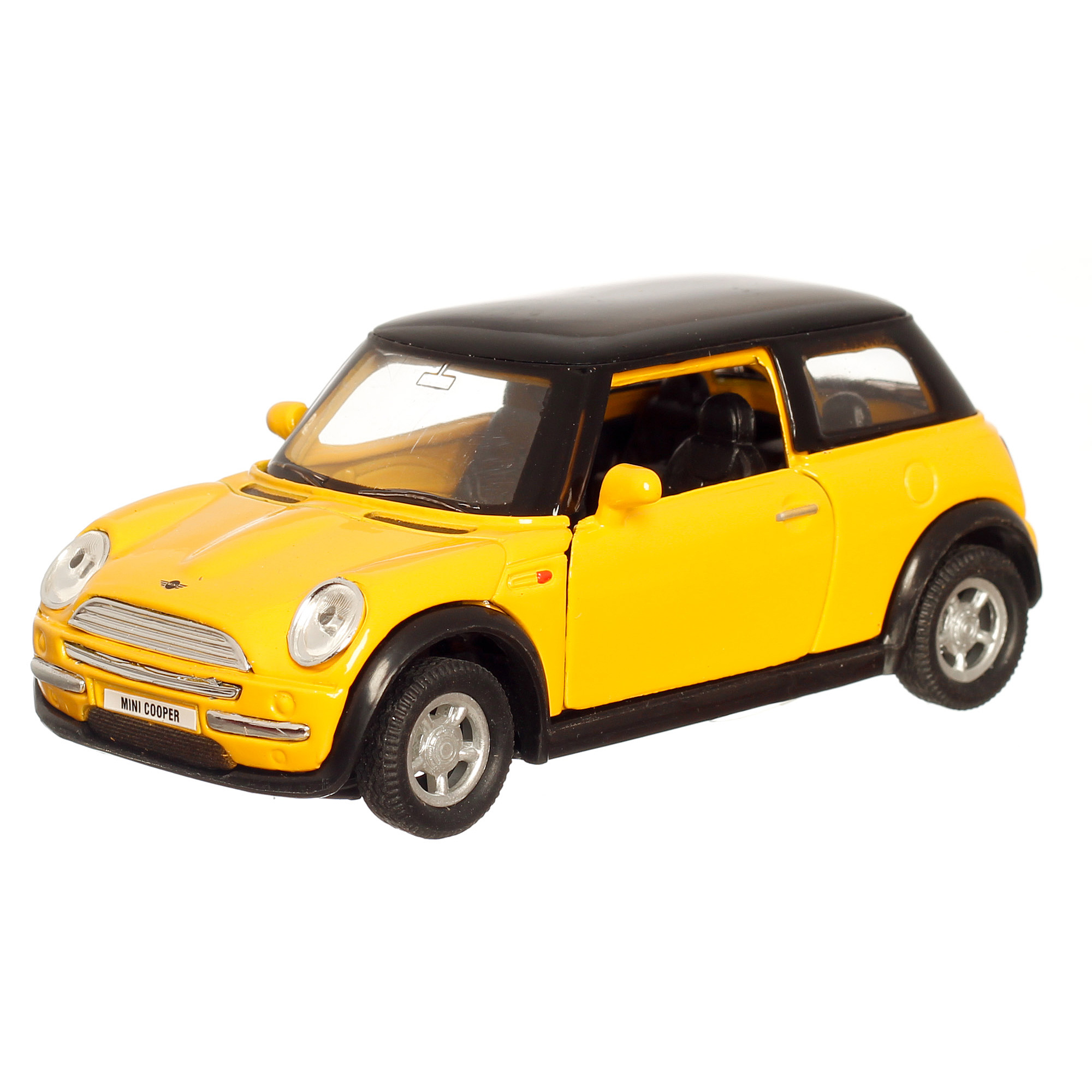 mini cooper metall 10cm gelb modellauto ebay. Black Bedroom Furniture Sets. Home Design Ideas