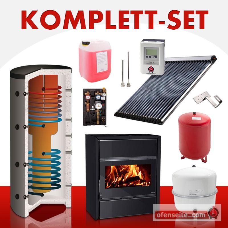 solarkomplettset 10 m kaminofen fly idro crystal warmwasser solarthermie bafa ebay. Black Bedroom Furniture Sets. Home Design Ideas