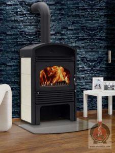 14 9 kw kaminofen wasserf hrend valencia holzofen ofen kamin heizger t ebay. Black Bedroom Furniture Sets. Home Design Ideas