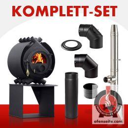bullerjan 00 8 kw classic i edelstahlschornstein kaminofen holzofen kamin ebay. Black Bedroom Furniture Sets. Home Design Ideas