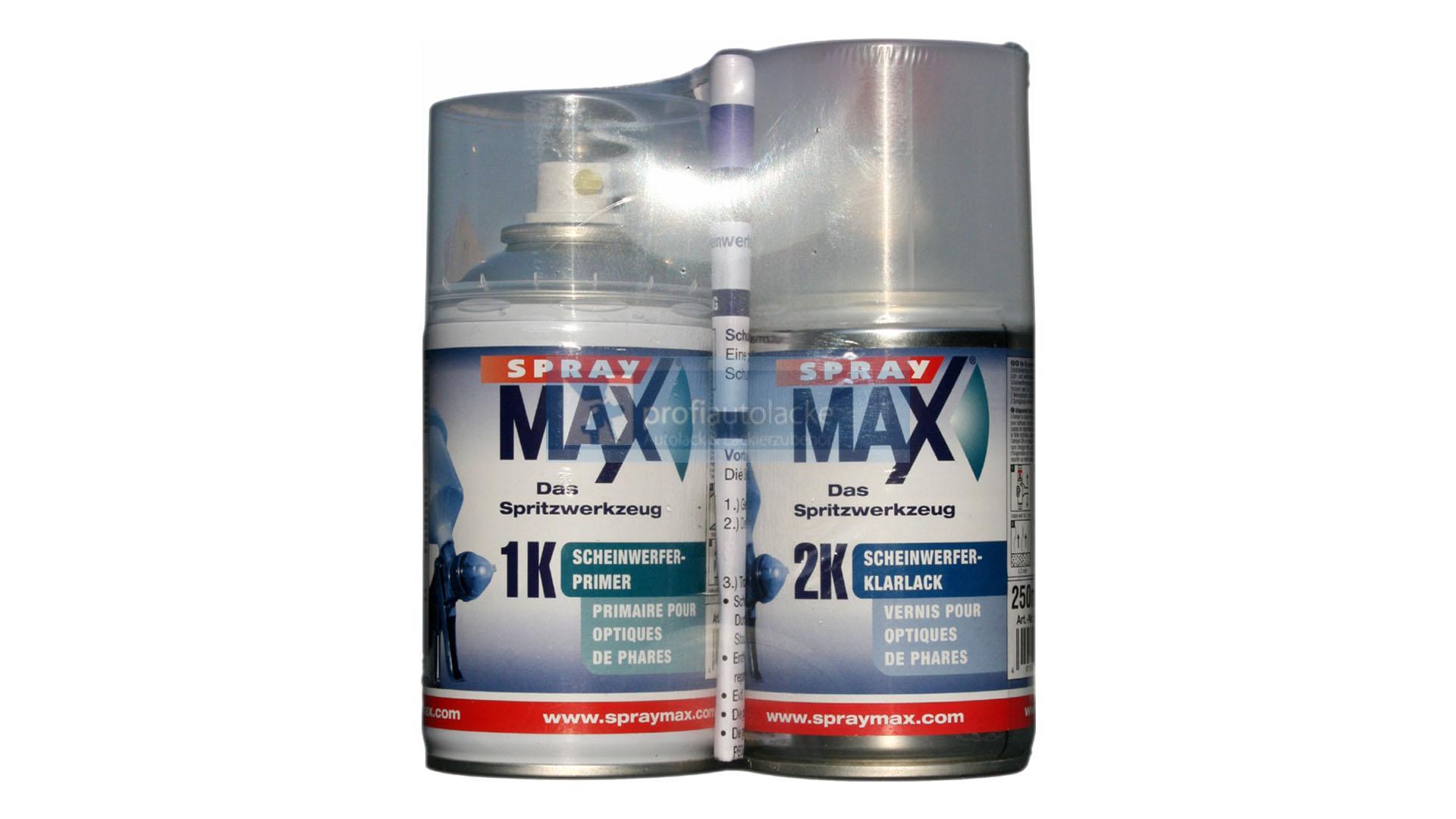 spray max scheinwerfer reparatur set 2x250ml ebay. Black Bedroom Furniture Sets. Home Design Ideas