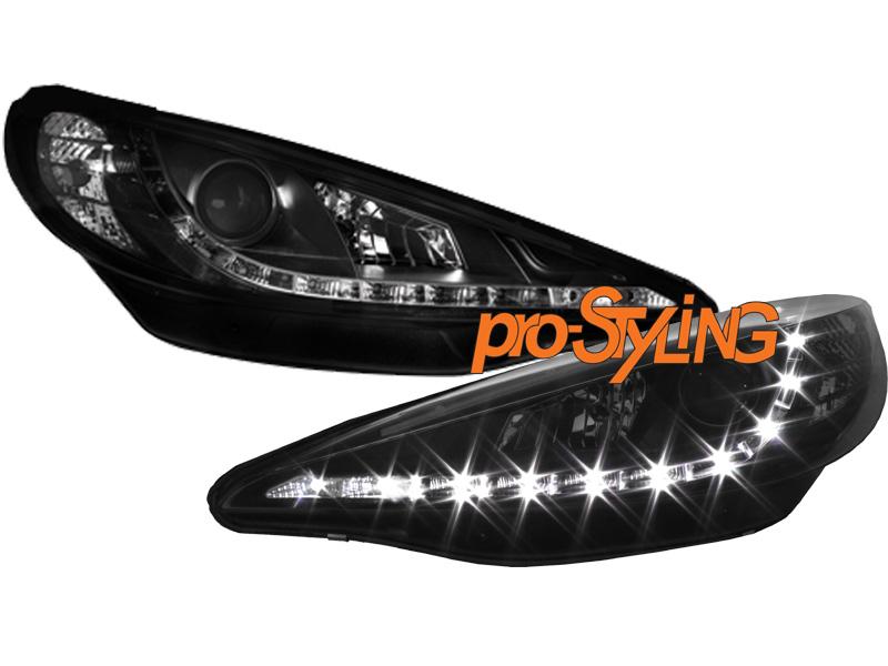 scheinwerfer peugeot 207 207cc echtes led tagfahrlicht. Black Bedroom Furniture Sets. Home Design Ideas