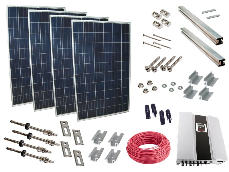5000 watt photovoltaikanlage solaranlage eigenverbrauch einspeisung pv anlage ebay. Black Bedroom Furniture Sets. Home Design Ideas