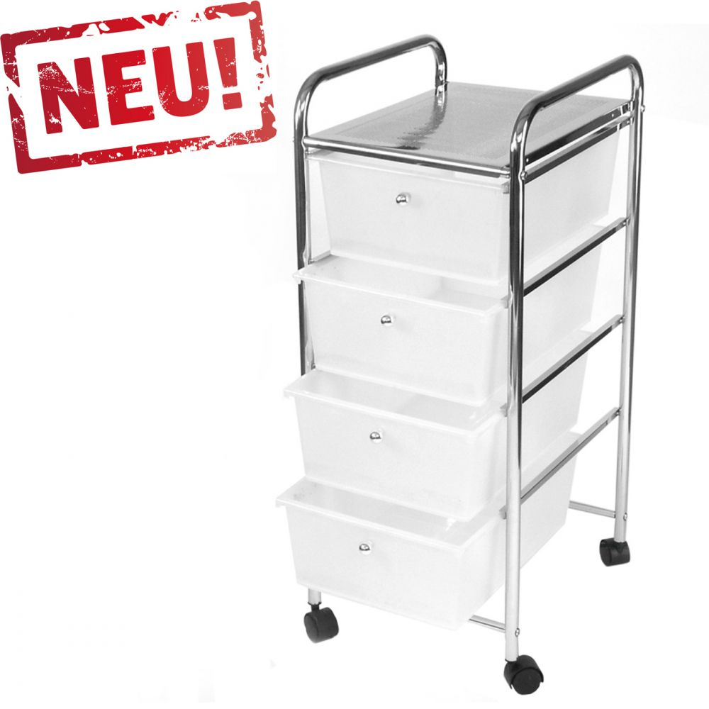 badregal k chenregal badtrolley rollwagen badschrank mit 4 schubladen 80x33x40cm ebay. Black Bedroom Furniture Sets. Home Design Ideas