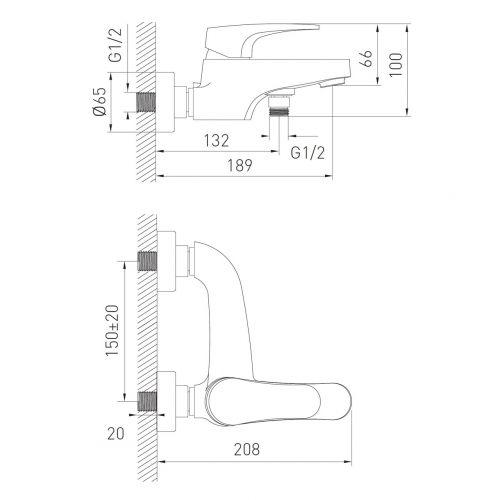 einhand wannenarmatur badewannenarmatur wasserhahn f r. Black Bedroom Furniture Sets. Home Design Ideas