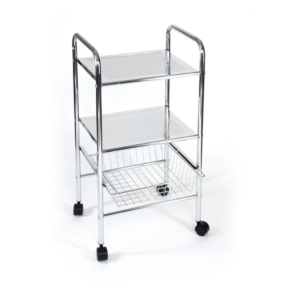 badregal badtrolley k chen rollwagen schubladenwagen mit drahtkorb schublade ebay. Black Bedroom Furniture Sets. Home Design Ideas