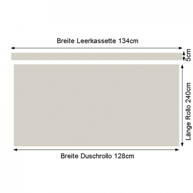 kleine wolke duschrollo mit leerkassette design muscheln. Black Bedroom Furniture Sets. Home Design Ideas