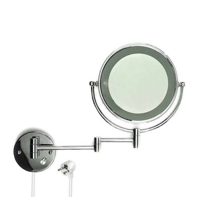 wand kosmetikspiegel schminkspiegel badspiegel mit led beleuchtung 10fach zoom ebay. Black Bedroom Furniture Sets. Home Design Ideas