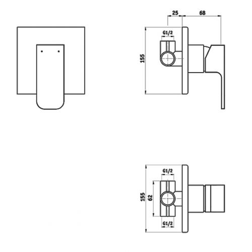 Unterputz Armatur Dusche Tauschen : Unterputz Duscharmatur 1-Wege Ventil Unterputzarmat ur f?r die Dusche