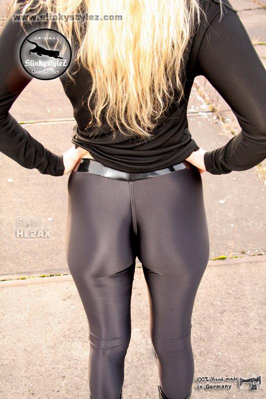 suche schwarze leggings die sehr glänzt