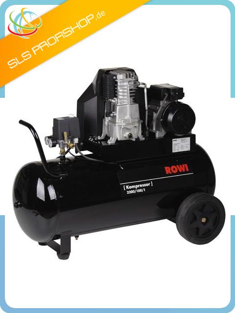 rowi druckluft kompressor kolbenkompressor 2200 100 1 10 bar 400v ebay. Black Bedroom Furniture Sets. Home Design Ideas
