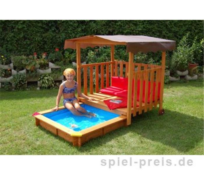 gaspo poolfolie f r holzspielhaus mit sandkasten 310382 ebay. Black Bedroom Furniture Sets. Home Design Ideas