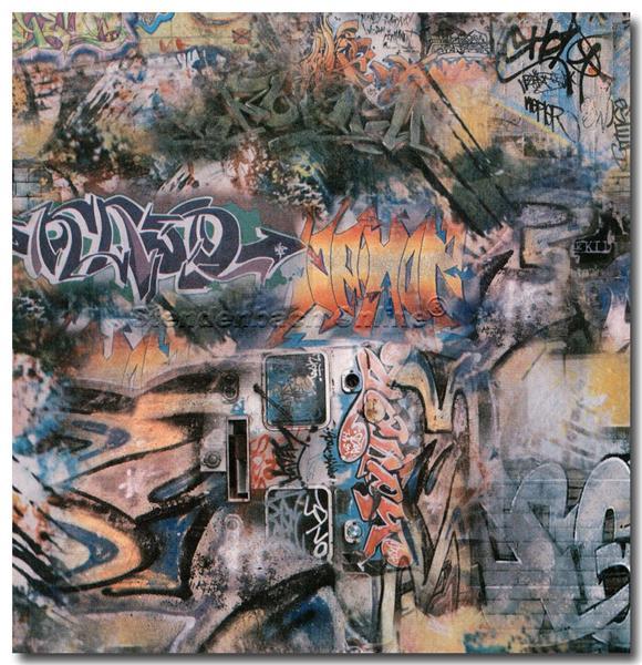 Jugendzimmer-Tapete Mit Graffiti : Tapete Hip & Fun trendige Tapeten Jugendzimmer Graffiti (3.19 Euro pro