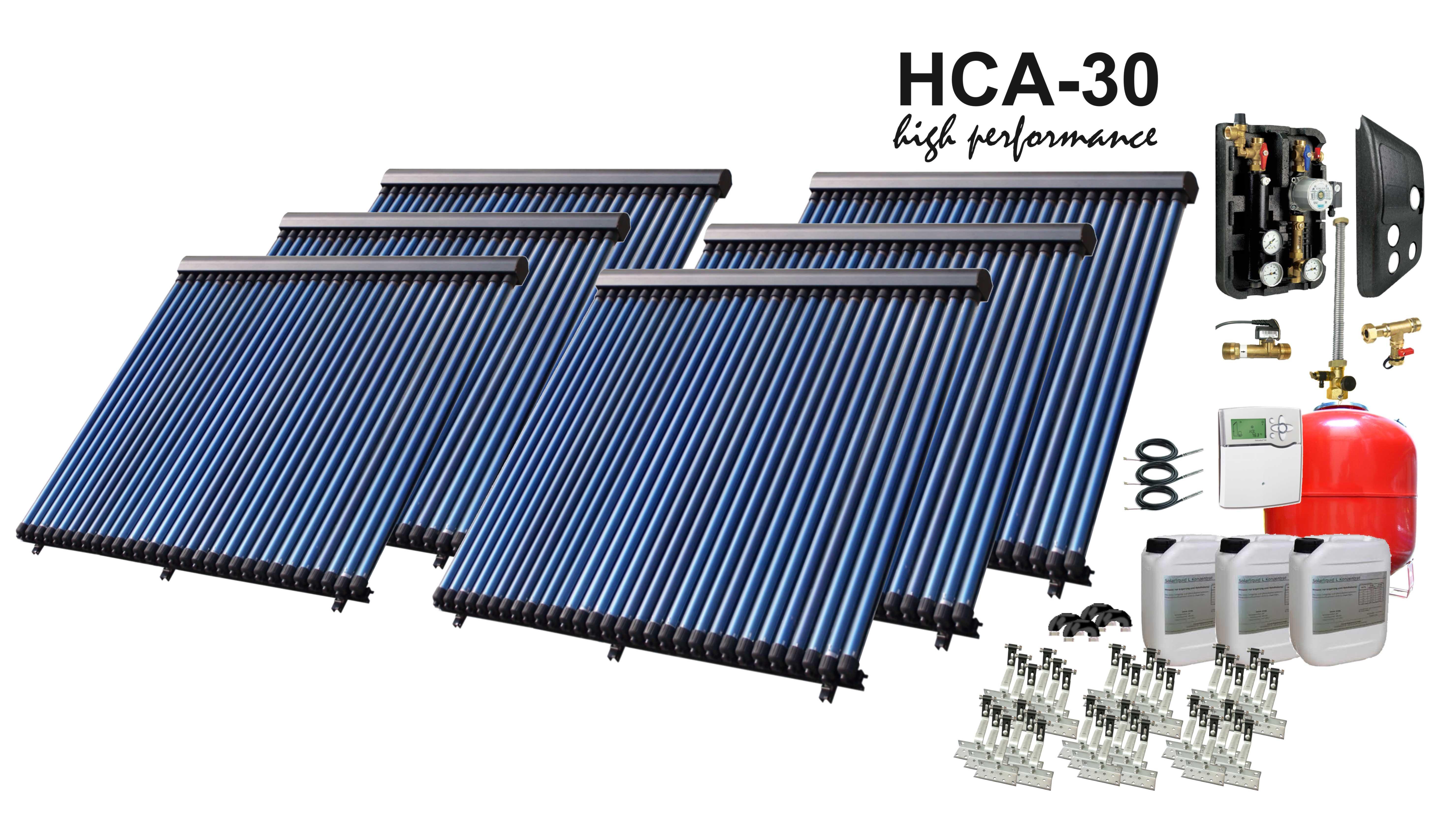 solarpaket hca30 6 25 08 m vakuumr hrenanlage mit bafa f rderung ebay. Black Bedroom Furniture Sets. Home Design Ideas