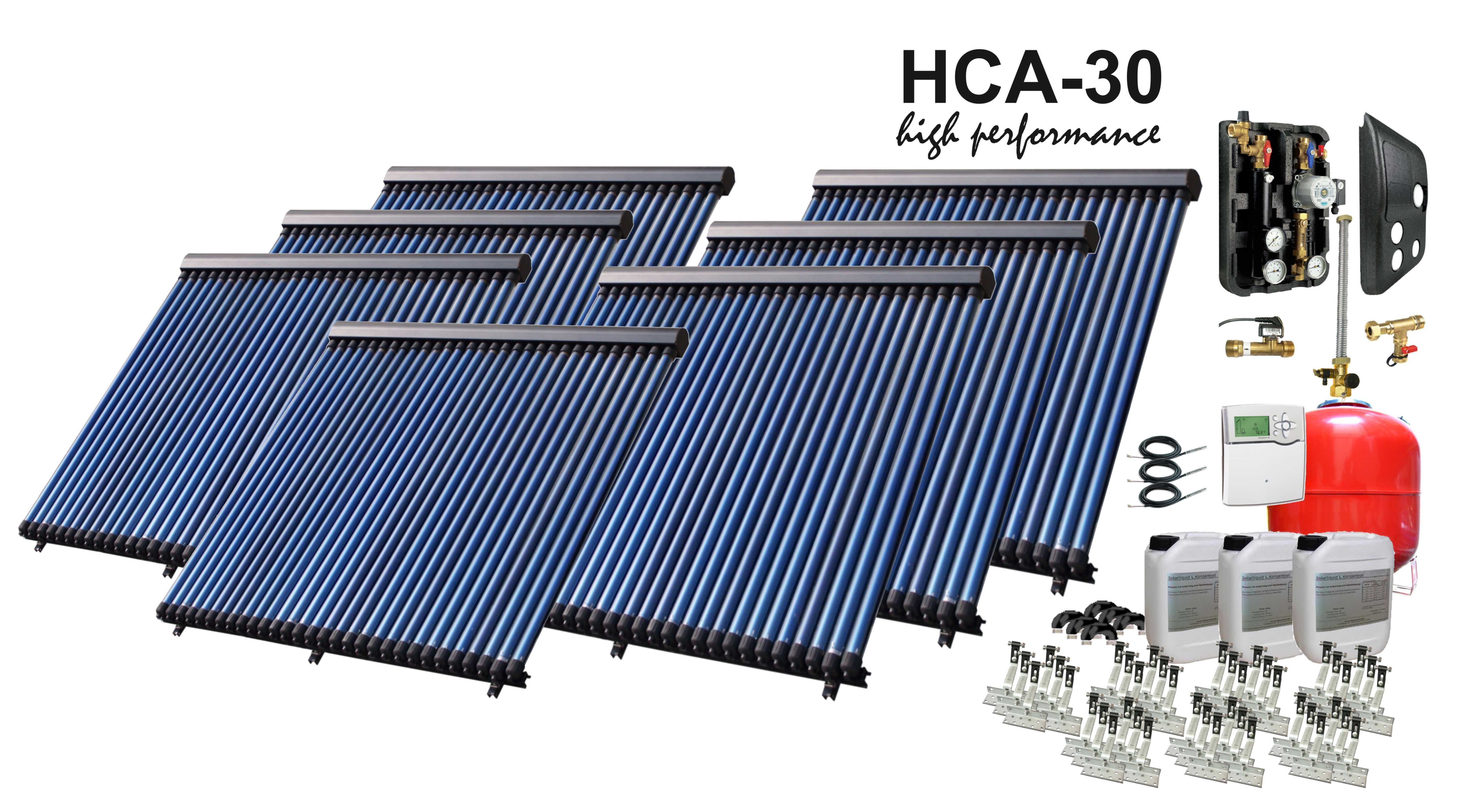 solarpaket hca30 7 29 26 m vakuumr hrenanlage mit bafa f rderung ebay. Black Bedroom Furniture Sets. Home Design Ideas