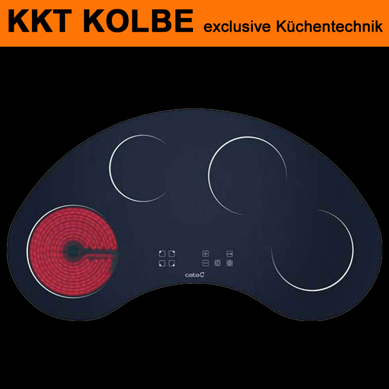 autark kochfeld glaskeramik halbrund kf900moon face kkt kolbe 90cm ebay. Black Bedroom Furniture Sets. Home Design Ideas