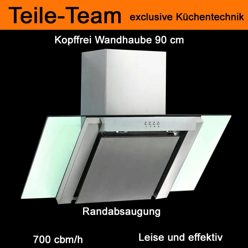 dunstabzugshaube kopffrei 90cm edelstahl glas 700cmb h elektronik randabsaugung ebay. Black Bedroom Furniture Sets. Home Design Ideas