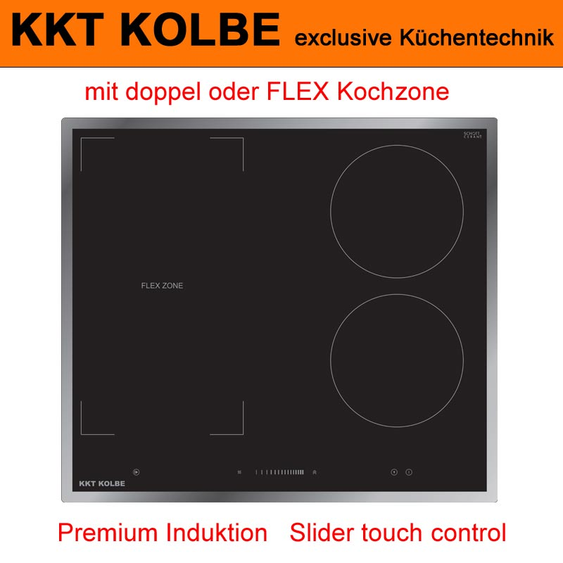 induktionskochfeld vario flex zone 59cm mit edelstahlrahmen kkt kolbe ifz59ed ebay. Black Bedroom Furniture Sets. Home Design Ideas