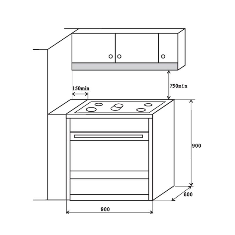 edelstahl kochzentrum 90 cm kkt kolbe cc900ed mit 5. Black Bedroom Furniture Sets. Home Design Ideas