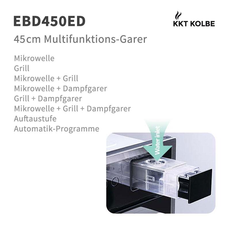 Einbau Multigarer Dampfgarer, Mikrowelle und Grill 45cm