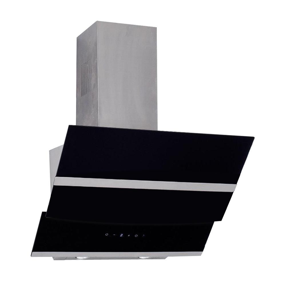 dunstabzugshaube wandhaube kopffrei 60cm edelstahl klarglas schwarz 800cbm h. Black Bedroom Furniture Sets. Home Design Ideas