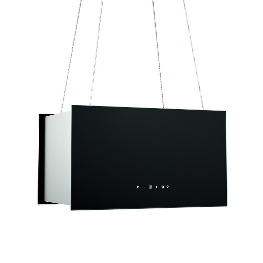 dunstabzugshaube inselhaube design mit seilsystem umluft kkt kolbe ebay. Black Bedroom Furniture Sets. Home Design Ideas