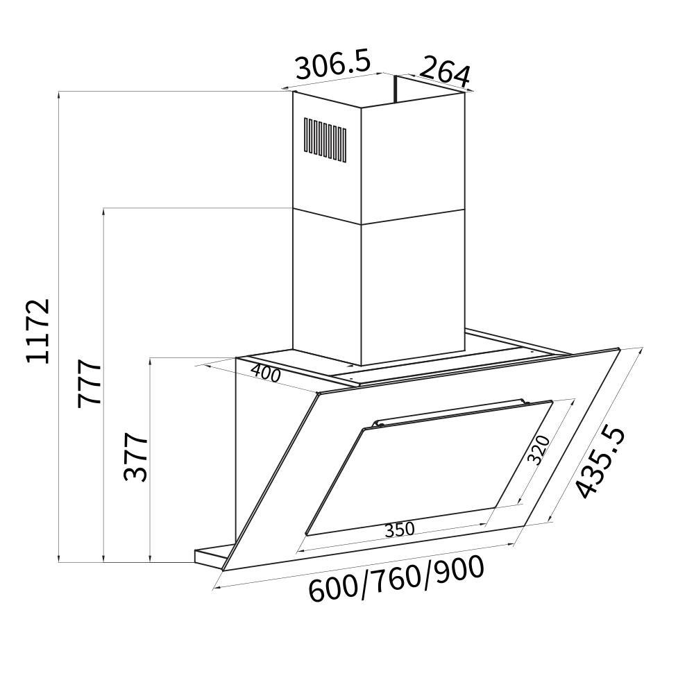 dunstabzugshaube wandhaube 80 cm kopffrei extra leise premium ger t kkt kolbe ebay. Black Bedroom Furniture Sets. Home Design Ideas