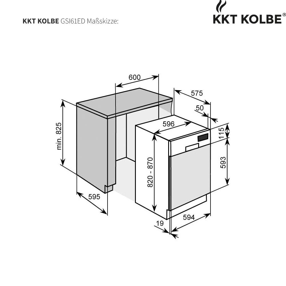Einbaugeschirrspüler 60cm A++ AA  47db Aqua Stop mit Sensorbedienung KKT KOLBE