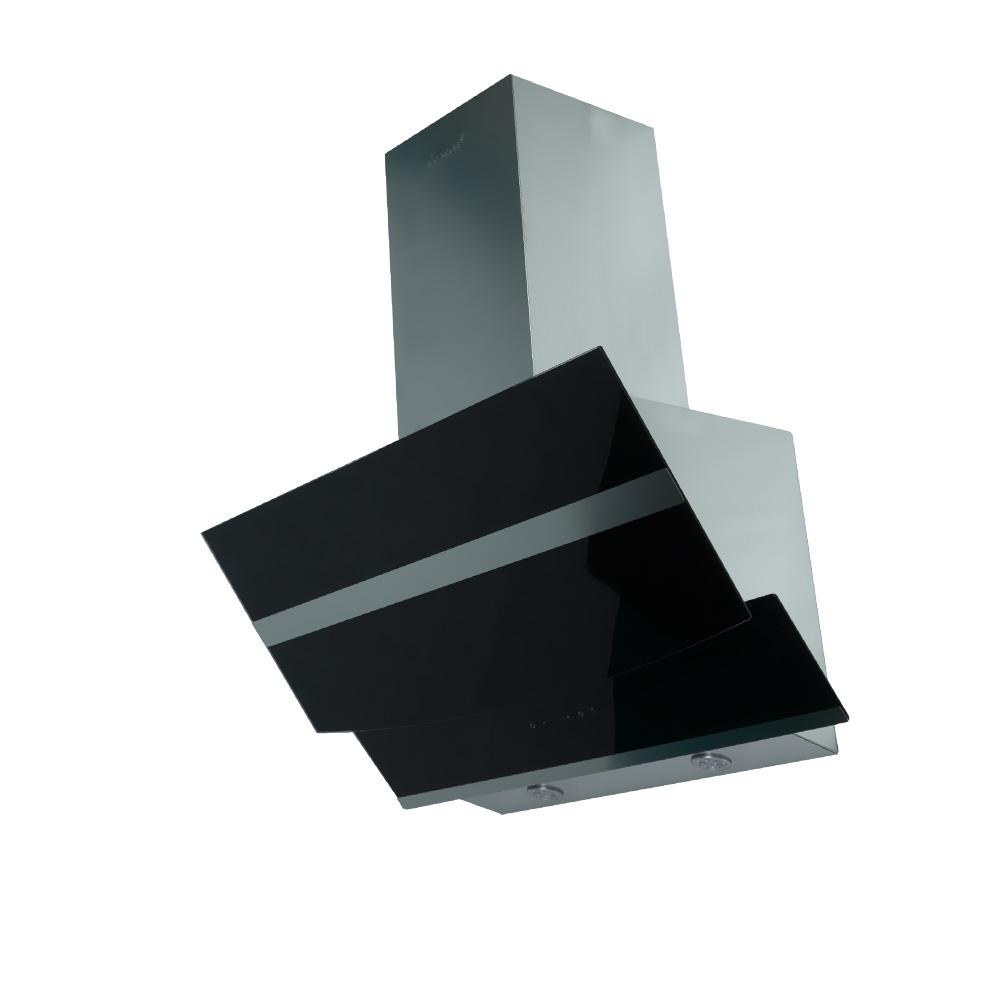 dunstabzugshaube wandhaube kopffrei 90cm edelstahl klarglas schwarz 800cbm h ebay. Black Bedroom Furniture Sets. Home Design Ideas