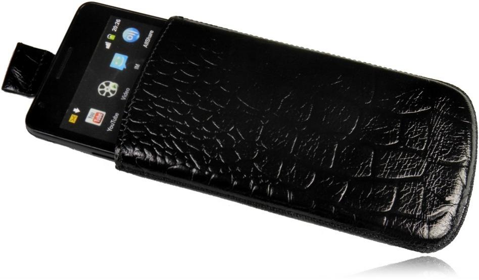 Ledertasche Handytasche Crocco Schutzhülle für BlackBerry 9810 Torch