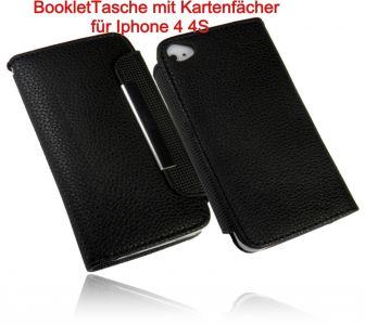 Funktion Tasche Handytasche Schutzhülle für Apple Iphone 4 4S mit Kartenfächer