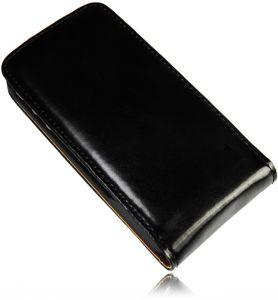 Leder Tasche für iPhone 4 4S Schutzhülle Handytasche Flip Case Cover Neu