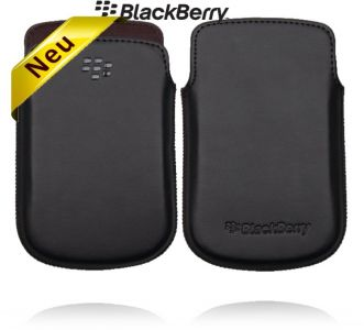 Original BlackBerry 9900 Bold Leder Tasche Handy Etui Schutzhülle Schwarz Neu
