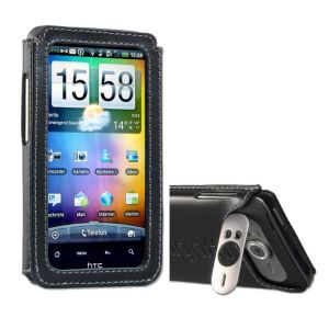 Bugatti Handy Etui Leder Tasche Hülle HTC Desire HD