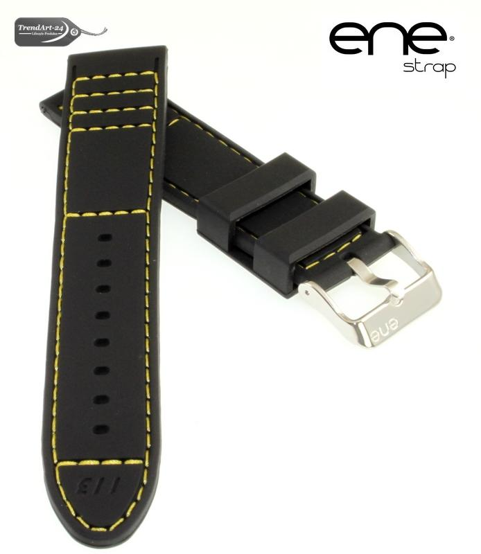 premium ene strap silikon uhrenarmband modell 113 schwarz. Black Bedroom Furniture Sets. Home Design Ideas