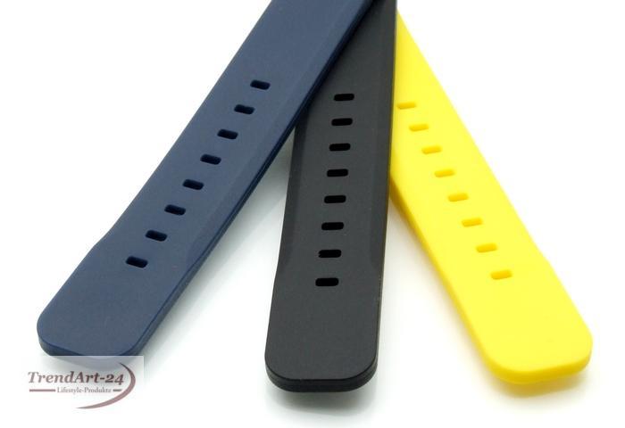 taucher silikon armband schwarz 22 mm ebay. Black Bedroom Furniture Sets. Home Design Ideas