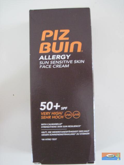 piz buin allergie sensitive sonnencreme gesicht 50ml lsf. Black Bedroom Furniture Sets. Home Design Ideas