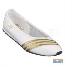 adidas ballerinas weiß gold