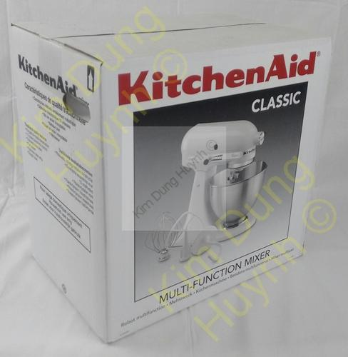 kitchenaid 5k45ssewh classic k chenmaschine 4 3 l 275 watt wei r hrer kneten ebay. Black Bedroom Furniture Sets. Home Design Ideas