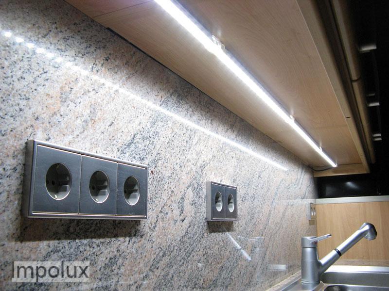 54cm led smd alu lichtleiste küche warmweiß 24v 6w lkw | ebay - Lichtleisten Küche