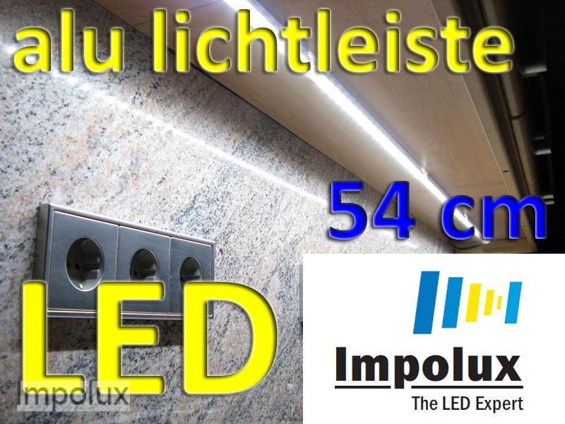 54cm led smd alu lichtleiste k che warmwei 24v 6w lkw ebay. Black Bedroom Furniture Sets. Home Design Ideas