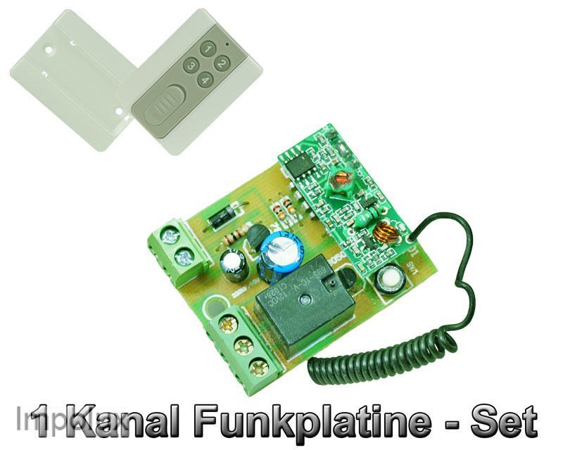 funk platine schalter 1 kanal 12v dc inkl fernbedienung led controller ebay. Black Bedroom Furniture Sets. Home Design Ideas