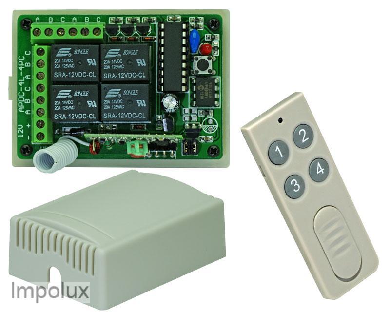 4 kanal relais led funkplatine funkschalter 12v inkl fb ebay for Koch 4 kanal led funkfernsteuerung