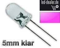 100x UV LEDs 5mm Schwarzlicht violett lila luce nera zwart licht Modding LED +R